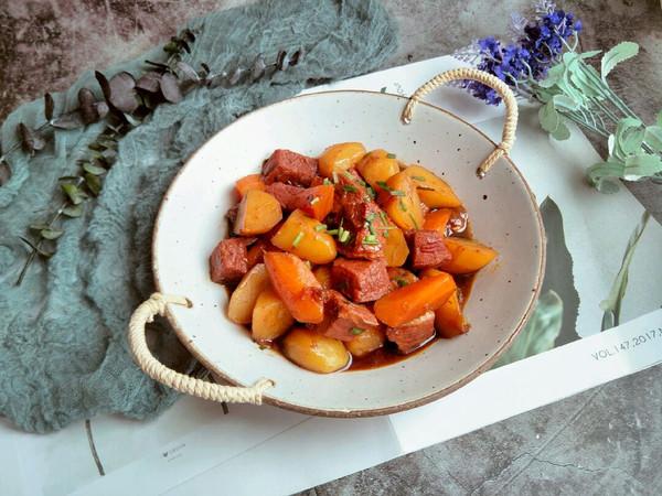 红烧土豆牛肉的做法
