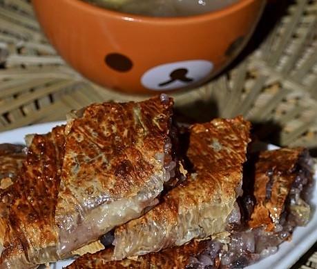 腐皮糯米豆沙卷