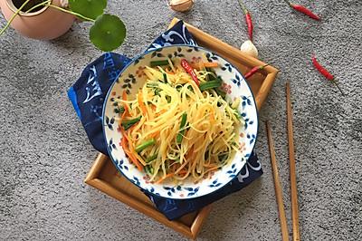 韭菜苔炒土豆丝
