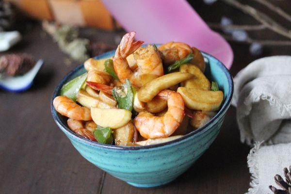 茭白油焖虾的做法