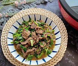 #新春美味菜肴#孜然牛肉炒香菜的做法