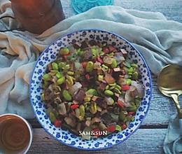 开洋香干炒毛豆(时令快手菜)的做法