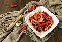 彩椒酱油炒面 无敌好吃的简单快手家常主食宵夜的做法