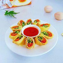 香椿时蔬鸡蛋卷