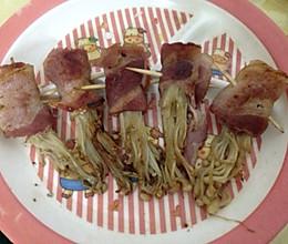 培根肉卷金针菇的做法