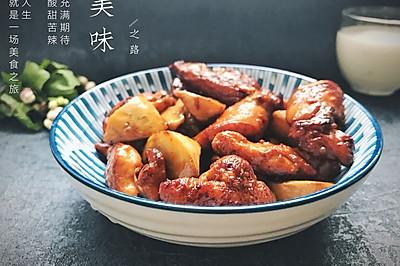鸡胸肉烩口蘑——早餐系列