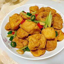 素炒油豆腐