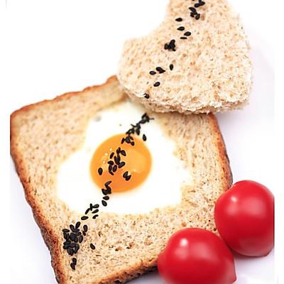 心型面包煎蛋