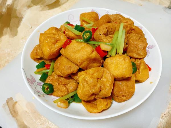 素炒油豆腐的做法
