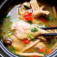 冬季养生食补菌菇老母鸡汤的做法图解10