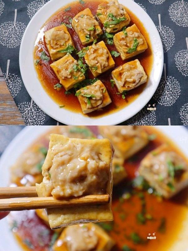 独家肉酿豆腐❗️上桌秒扫光❗️下饭菜家常菜的做法