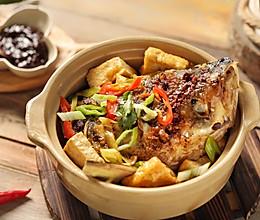 砂锅鱼头豆腐煲的做法