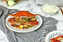 葱姜爆梭子蟹的做法