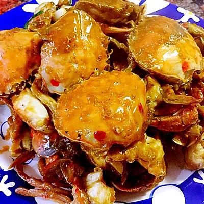 葱香酱螃蟹