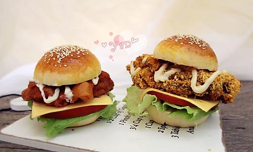 香辣鸡腿堡&奥尔良鸡腿堡的做法