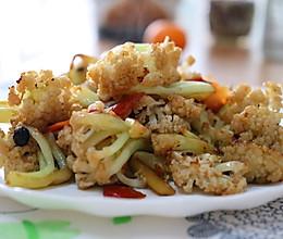 干锅花菜 | 秘密! 炒出干香焦香锅气的做法