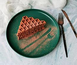 #秋天怎么吃# 可可糯米华夫饼的做法