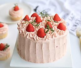 草莓奶油蛋糕~新手福音 戚风也可以不用分蛋啦的做法