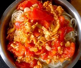 番茄鸡蛋捞面的做法