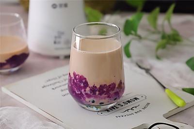 口感丝滑,醇香味浓的紫薯珍珠奶茶