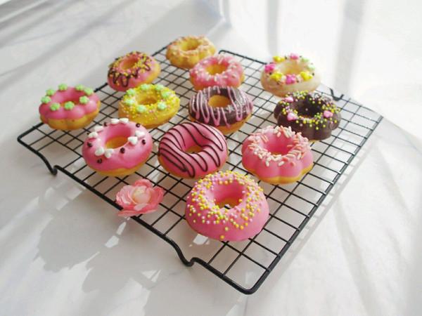 巧克力甜甜圈(烤箱版)的做法