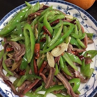 青椒炒肚丝