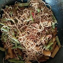 酱香土豆豆角炒肉焖面