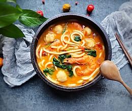 #快手又营养,我家的冬日必备菜品#咖喱鲜虾乌冬面的做法