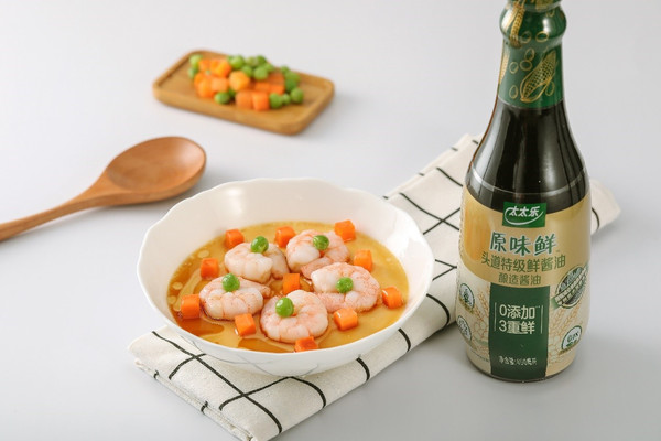 细腻爽滑的青豆虾仁炖蛋