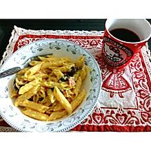 奶油蘑菇白酱意大利通心粉