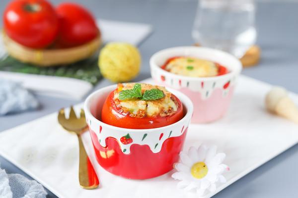 藜麦彩蔬番茄盅的做法