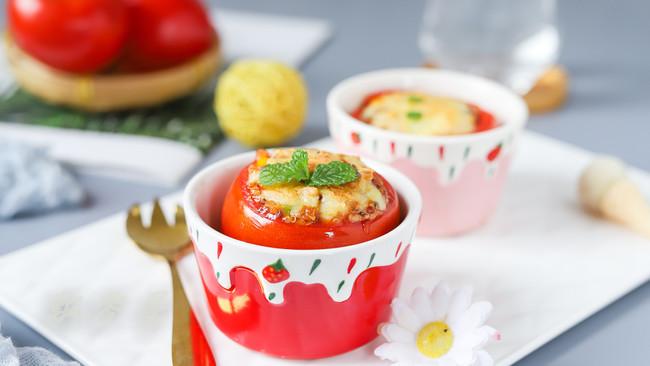 #助力高考营养餐#藜麦彩蔬番茄盅的做法