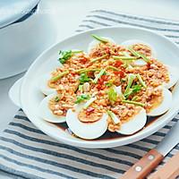 #福气年夜菜#蒜香白鸡蛋的做法图解7