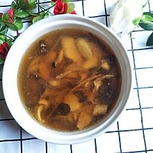 茶树菇淮山瘦肉汤