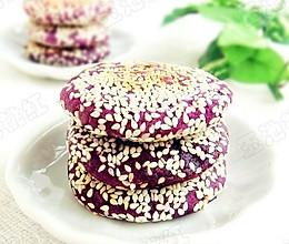 香煎芝麻紫薯饼的做法
