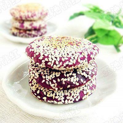 香煎芝麻紫薯饼