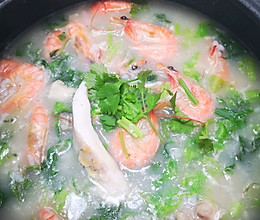 #秋天第一锅粥#鱼腩鲜虾砂锅粥的做法