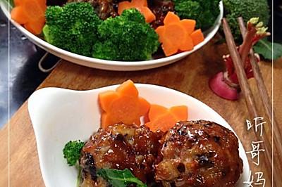 家常菜——红烧肉丸