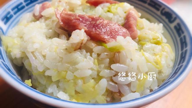 卷心菜咸肉菜饭的做法