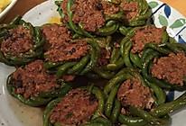 肉馅酿豇豆的做法