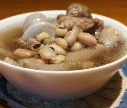 花生眉豆煲鸡脚汤(电炖盅版)的做法