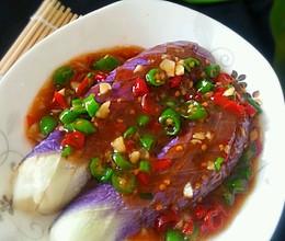 青红辣椒蒸茄子的做法