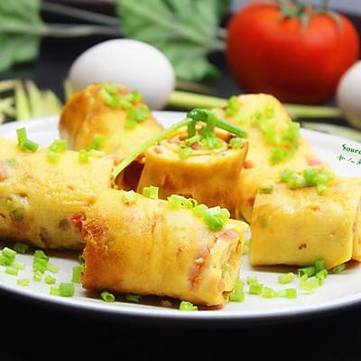 营养早餐,西红柿厚烧蛋