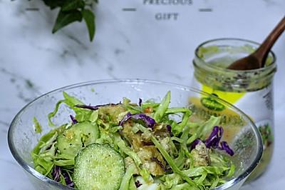 #节后清肠大作战#零0⃣️基础减肥餐之鸡肉蔬菜水果沙拉!