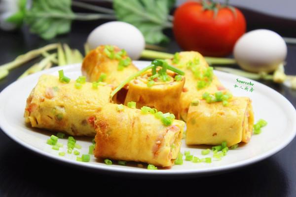 营养早餐,西红柿厚烧蛋的做法