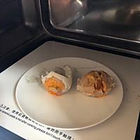 #馅儿料美食,哪种最好吃#咸蛋黄糯米饭团子的做法图解3