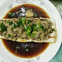 榄菜肉末蒸豆腐的做法图解11