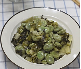 刘家菜炒蚕豆的做法