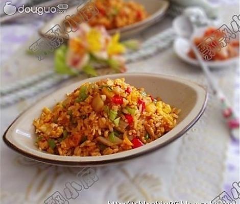 美丽厨娘-韩式泡菜炒饭韩式泡菜炒饭的做法