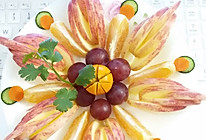 水果拼盘大杂烩苹果橘子葡萄减肥美容养颜色彩缤纷花世界的做法